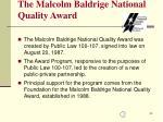 the malcolm baldrige national quality award3