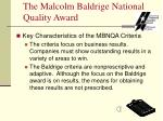the malcolm baldrige national quality award4