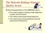 the malcolm baldrige national quality award5