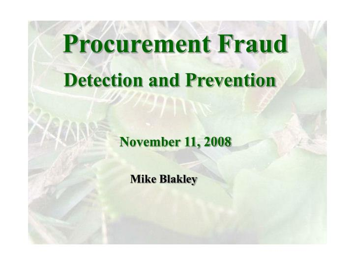 procurement fraud n.