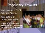 pageantry tryouts