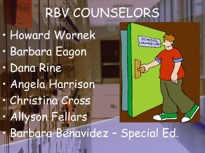 Rbv counselors