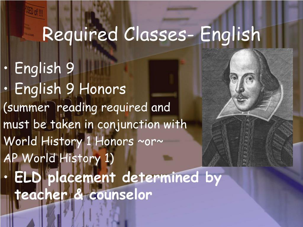 Required Classes- English