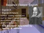 required classes english
