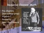 required classes math
