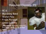 required classes pe