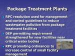 package treatment plants