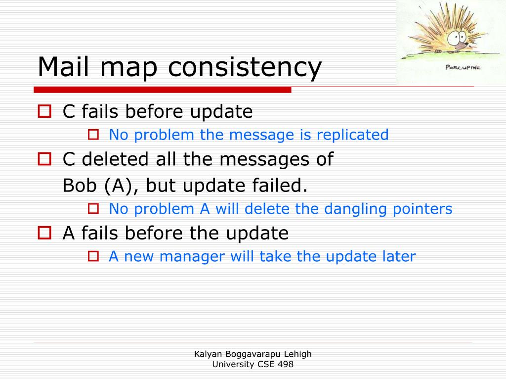 Mail map consistency