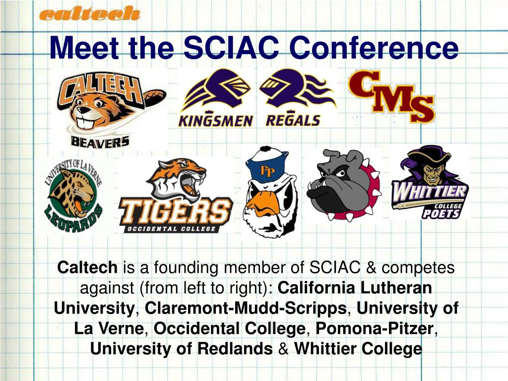 Meet the SCIAC Conference