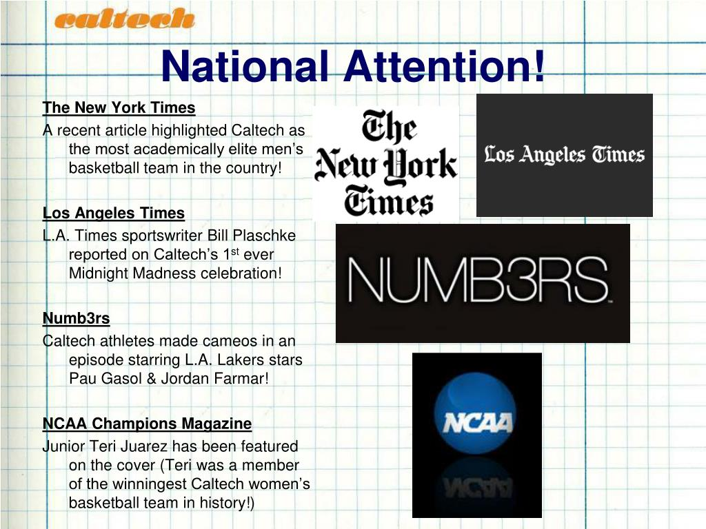 National Attention!