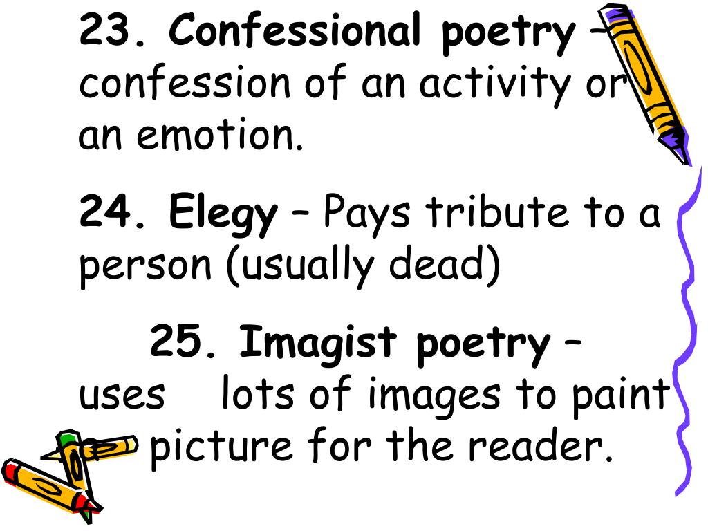 23. Confessional poetry