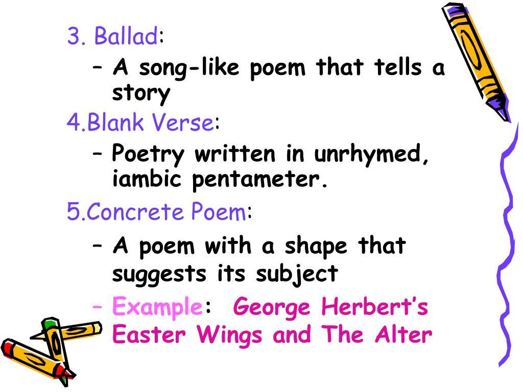 3. Ballad