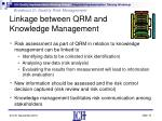 linkage between qrm and knowledge management1