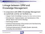 linkage between qrm and knowledge management2