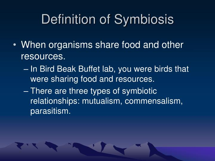 Definition of symbiosis