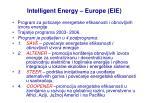 intelligent energy europe eie