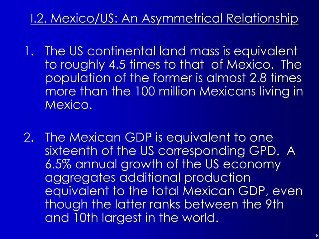 I.2. Mexico/US: An Asymmetrical Relationship