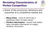 revisiting characteristics of perfect competition