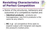 revisiting characteristics of perfect competition1