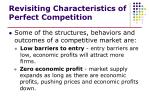 revisiting characteristics of perfect competition2