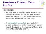 tendency toward zero profits1