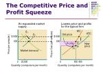 the competitive price and profit squeeze