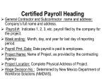 certified payroll heading