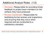 additional analyst roles 1 2