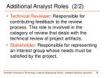 additional analyst roles 2 2