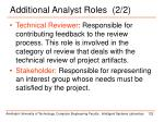 additional analyst roles 2 21