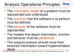 analysis operational principles