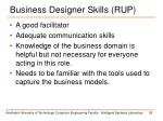 business designer skills rup