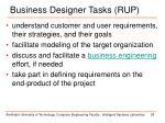 business designer tasks rup