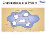 characteristics of a system1