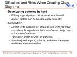 difficulties and risks when creating class diagrams1