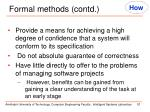 formal methods contd