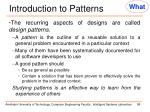 introduction to patterns