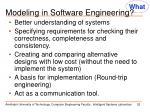 modeling in software engineering
