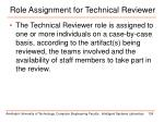 role assignment for technical reviewer1