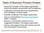 tasks of business process analyst