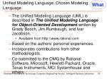 unified modeling language chosen modeling language