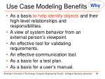 use case modeling benefits