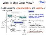 what is use case view