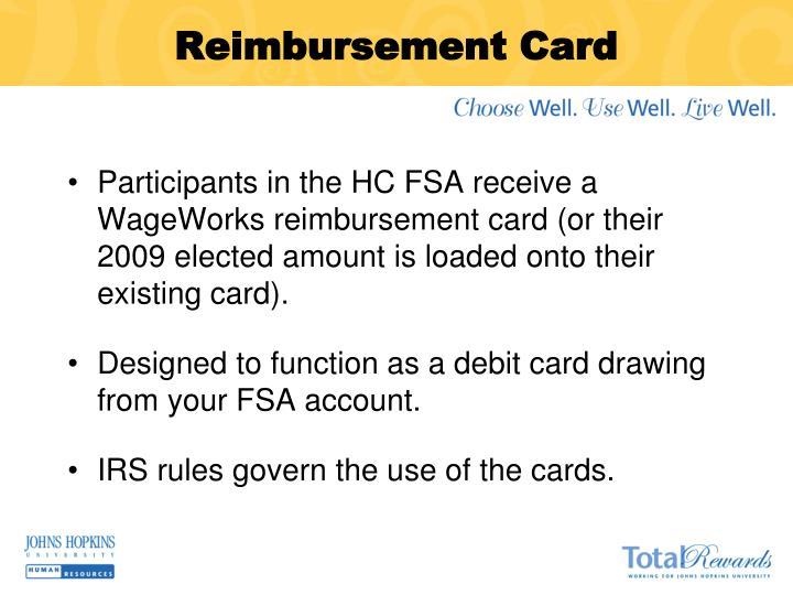 Reimbursement Card