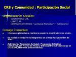 crs y comunidad participaci n social