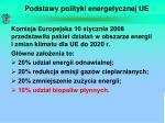 podstawy polityki energetycznej ue