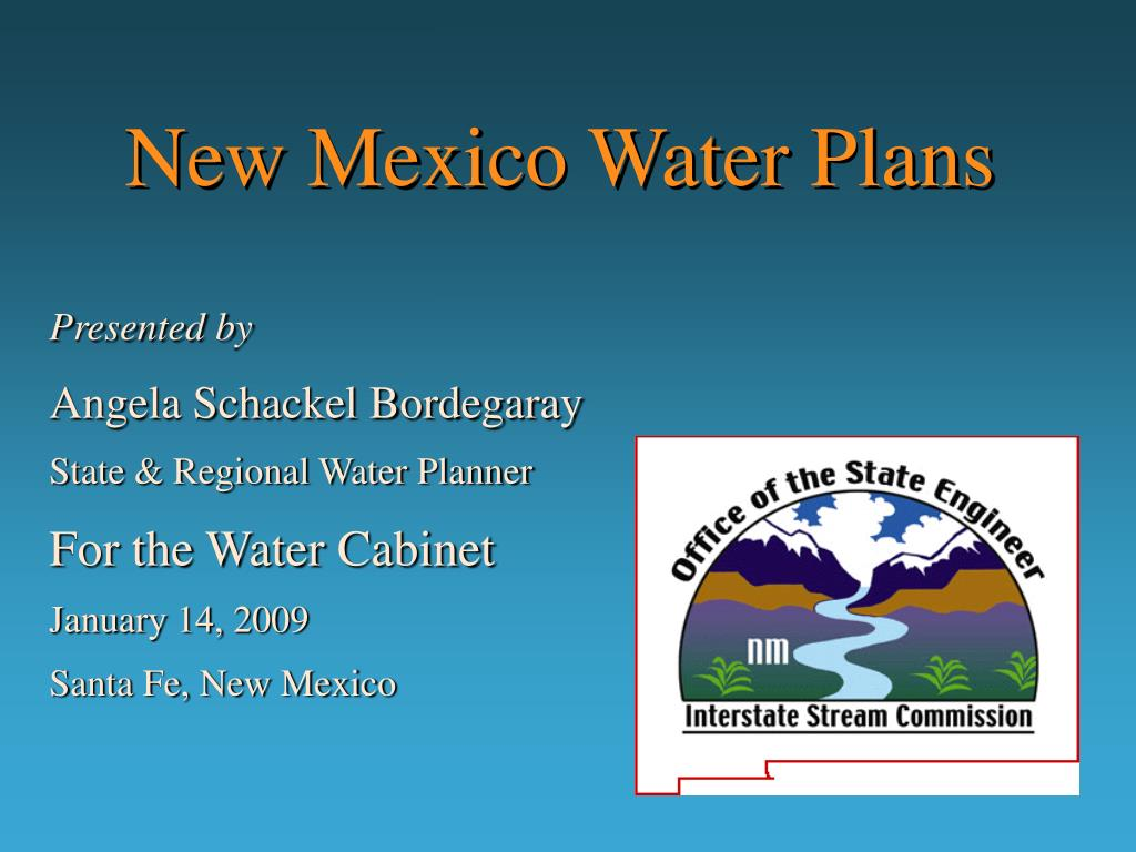 new mexico water plans l.