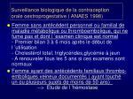 surveillance biologique de la contraception orale oestroprogestative anaes 1998