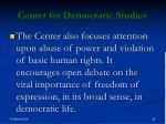 center for democratic studies30