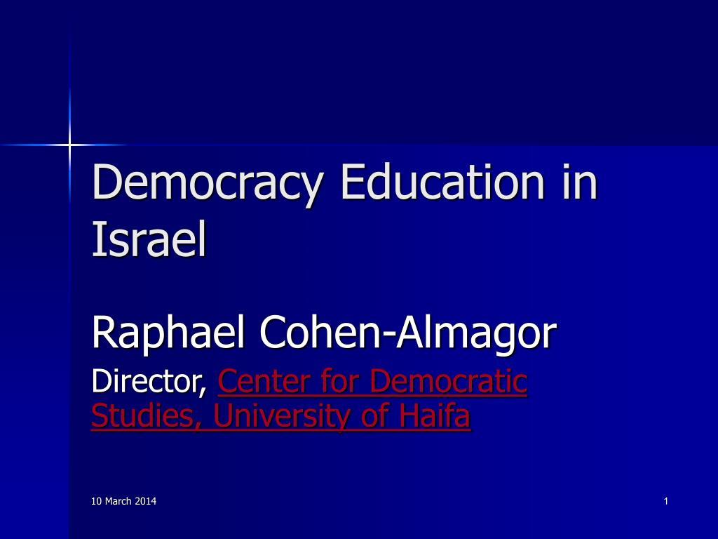 democracy education in israel